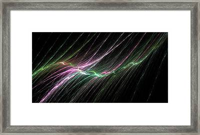 Colored Rain In The Night Framed Print by Maryia Kuprevich