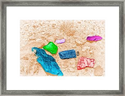 Colored Rocks 1 Framed Print