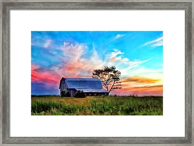 Colored Sunrise Framed Print