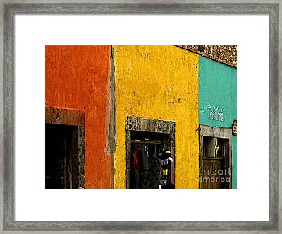 Colored Tiendas Framed Print