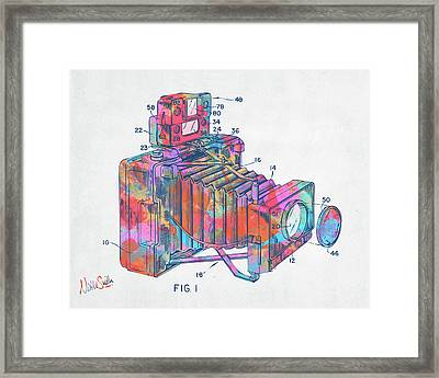 Colorful 1966 Photographic Camera Accessory Patent Minimal Framed Print