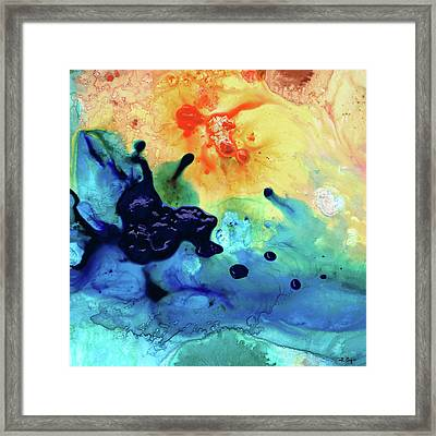 Colorful Abstract Art - Blue Waters - Sharon Cummings Framed Print by Sharon Cummings