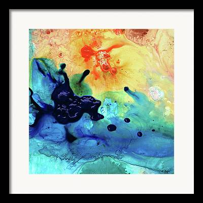 Splashy Paintings Framed Prints