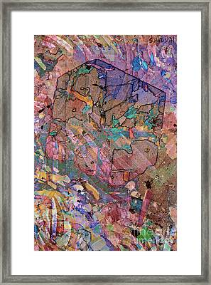 colorful abstract art - Flying Cube Framed Print