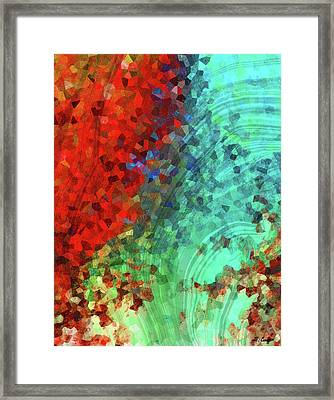 Colorful Abstract Art - Rejoice - Sharon Cummings Framed Print
