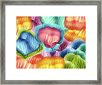 Colorful Abstract Flower Petals Framed Print by Amy Vangsgard