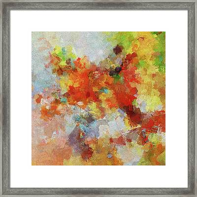 Framed Print featuring the painting Colorful Abstract Landscape Painting by Ayse Deniz