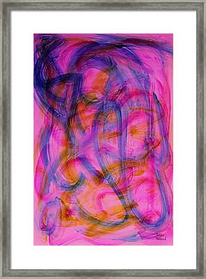Colorful Abstract Framed Print by Natalie Holland