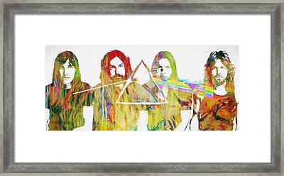 Colorful Abstract Pink Floyd Framed Print by Dan Sproul