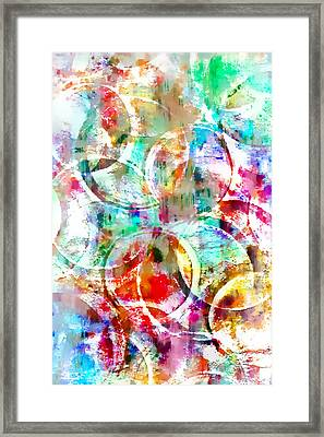Colorful Abstract Framed Print by Tom Gowanlock