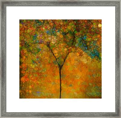 Colorful Abstract Tree Framed Print by Dan Sproul