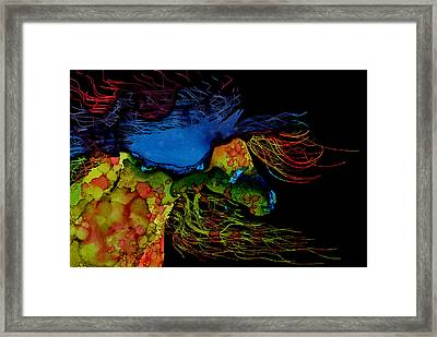 Colorful Abstract Wild Horse  Framed Print by Michelle Wrighton