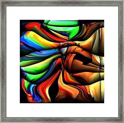 Colorful Abstract1 Framed Print by Teo Alfonso