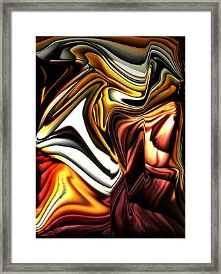 Colorful Abstract13 Framed Print by Teo Alfonso