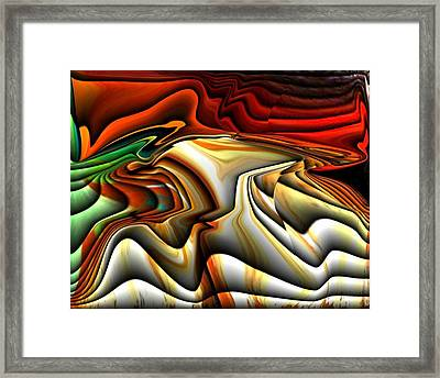 Colorful Abstract33 Framed Print by Teo Alfonso