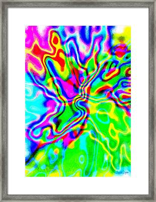 Colorful Abstraction - Da Framed Print by Leonardo Digenio