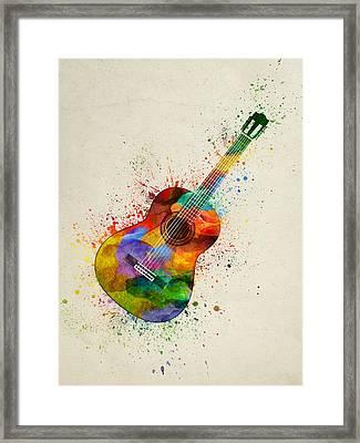 Colorful Acoustic Guitar 01 Framed Print
