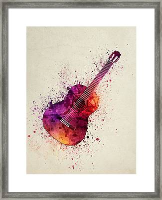 Colorful Acoustic Guitar 03 Framed Print