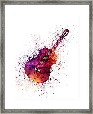 Colorful Acoustic Guitar 04 Framed Print