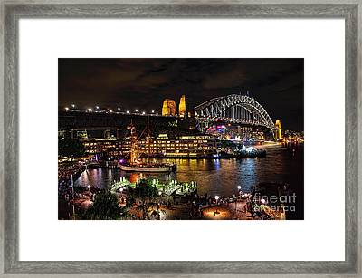Colorful Activity Sydney Harbour By Kaye Menner Framed Print