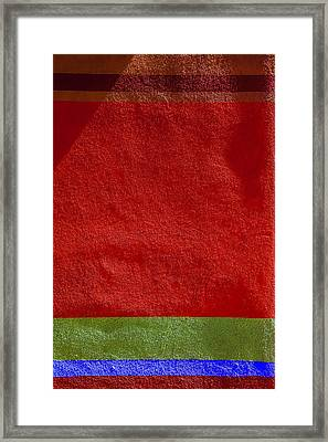 Colorful Adobe Wall Texture Framed Print