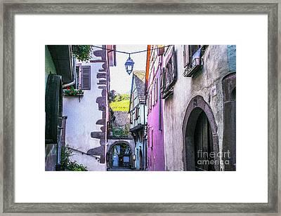 Colorful Alley Of  Riquewihr France Framed Print