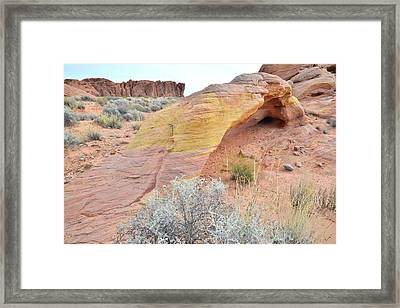 Framed Print featuring the photograph Colorful Arch In North Valley Of Fire by Ray Mathis