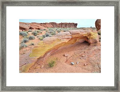 Framed Print featuring the photograph Colorful Arch In Valley Of Fire by Ray Mathis
