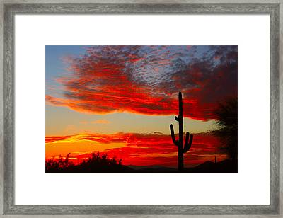 Colorful Arizona Sunset Framed Print