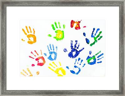 Colorful Arm Prints Abstract Framed Print by Jenny Rainbow