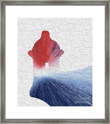 Colorful Art El Morro Blue Red And White Framed Print by Saribelle Rodriguez