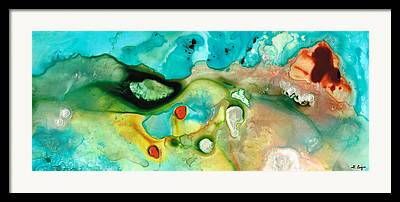 Drippy Paintings Framed Prints