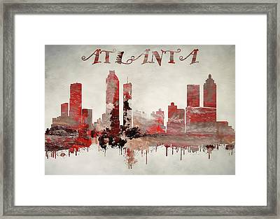 Colorful Atlanta Georgia Skyline Framed Print by Dan Sproul