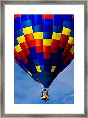Colorful Balloon Flying High Framed Print by Teri Virbickis