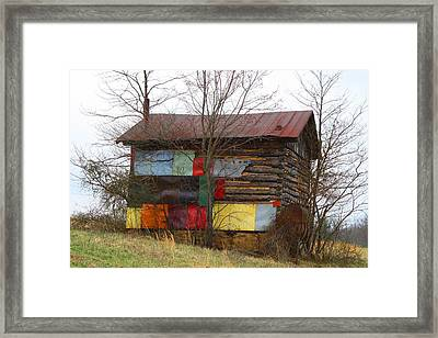 Colorful Barn Framed Print