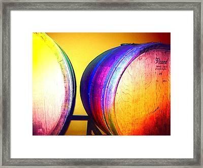 Colorful Barrels Framed Print by Cindy Edwards