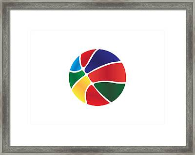 Colorful Basket Ball Framed Print by Ioannis Delias