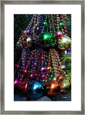 Colorful Baubles Framed Print