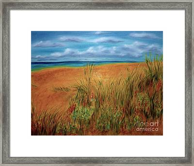 Colorful Beach Framed Print