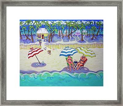 Colorful Beach Hideaway Framed Print