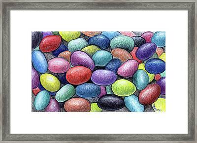 Colorful Beans Framed Print