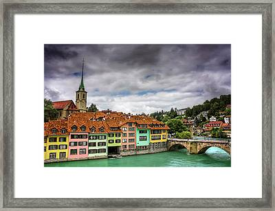 Colorful Bern Switzerland  Framed Print