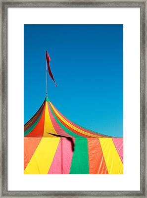 Colorful Big Top Tent At The Fair Framed Print