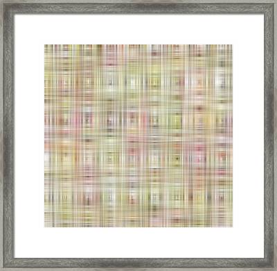 Colorful Block Pattern Framed Print by Gina Lee Manley
