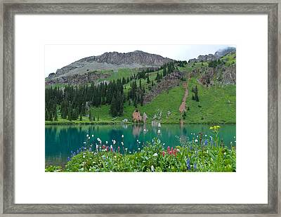 Framed Print featuring the photograph Colorful Blue Lakes Landscape by Cascade Colors