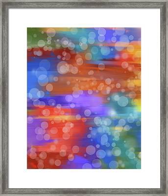 Colorful Bokeh Framed Print by Dan Sproul