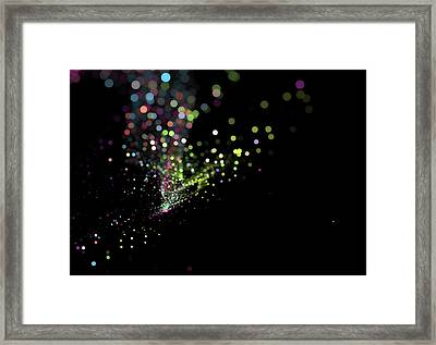 Colorful Bokeh Particles Background Framed Print