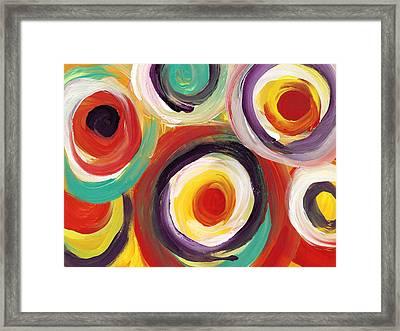 Colorful Bold Circles 2 Framed Print by Amy Vangsgard