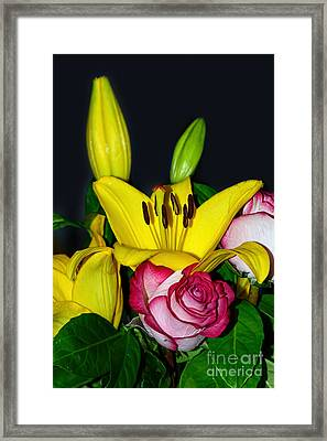 Colorful Bouquet By Kaye Menner Framed Print by Kaye Menner
