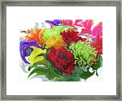 Colorful Bouquet Framed Print by Kathy Moll